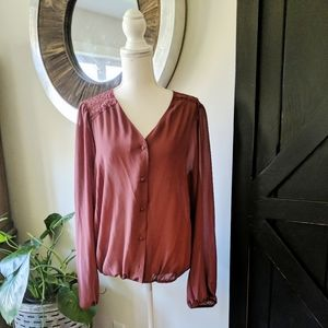 Forever 21 Plus size blouse with lace details